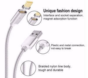 New Magnetic 2 in 1 USB Cable for Ios and Android in One Connector pictures & photos