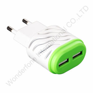 2.1A Two Dual Ports Travel Charger with American/ European Standards pictures & photos