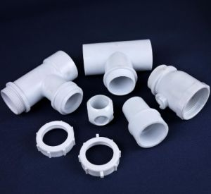 Customized PVC Plastic Molding Pipe Three Way Tee Fitting pictures & photos