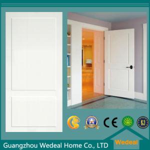 Oak Wood Veneer Hollow Core MDF Eco Friendly Two Panel Door