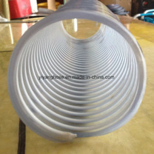 Suction Hose with White Bonds Smooth Inside and Corrugated Outside.