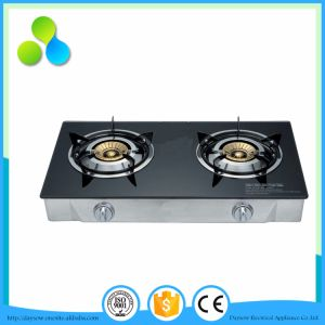 Tempered Glass Top Brass Burner LGP/Ng Stove Tow Burrner