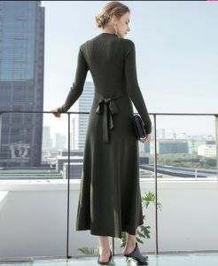 Fall and Winter Elegant Long Sleeve Office and Leisure Ladies Dress pictures & photos