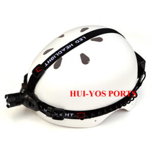 ABS Climbing Helmet, Hard-Shell Helmet with Light, Exploration Helmet with Head Light