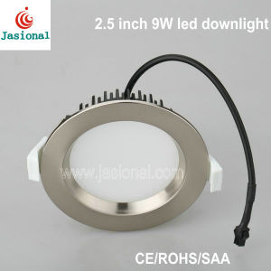 SAA Approved 9W 2.5 Inch Nickle LED Downlight 70mm Cut out