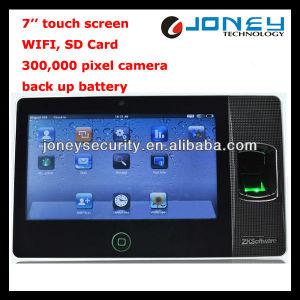 7 Inch Touch Screen, WiFi, SD Card, Back-up Battery Fingerprint Time Attendance Machine Price pictures & photos