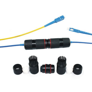 Single Mode 2 Core Double Jacket Fiber Optic Cable with Sc Connectors