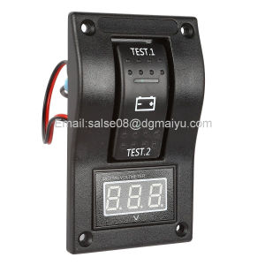 Voltmeter Battery Test Panel Rocker Switch Dpdt/on-off-on for Marine Boat RV ATV 5-30V DC pictures & photos
