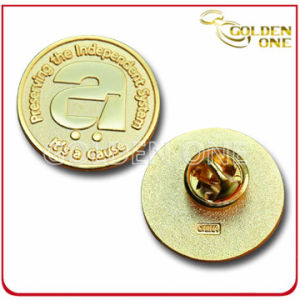 Custom Die Stamped Engraved Gold Plated Lape Pin pictures & photos