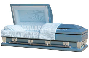 Frank Blue 28 Inches Oversize Casket pictures & photos