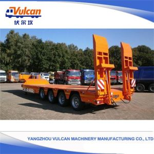 China High Quality Flatbed Lowbed Semi Truck Tractor Trailer Customized China Semi Trailer Cargo Transport Semi Trailer