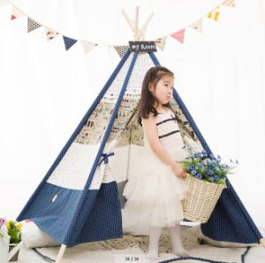 Quadrangle Blue Cute Indoor Children Playing Tent (MW6020) pictures & photos