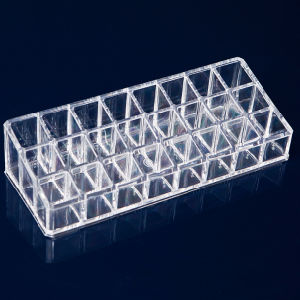 Clear Plastic Acrylic 24 Lipstick Holder Display Stand Cosmetic Organizer Makeup Case pictures & photos