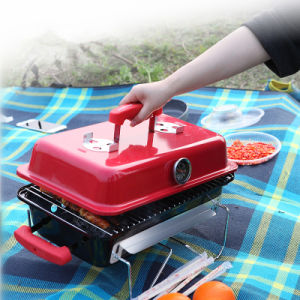 Portable Mini Table Top Charcoal Barbecue Grill for Camping pictures & photos