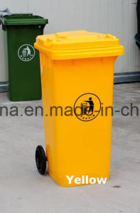 Eco-Friendly 100L Plastic Wheelie Bins with Two Wheels pictures & photos