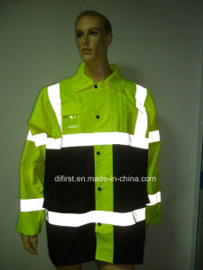 High Visibility Reflective Safety Parka for Oxford Waterproof pictures & photos