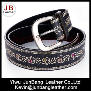 Hot Selling Fashion Ladies PU Embossed Belt pictures & photos