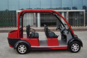 2015 New Environmental Protection 4 Seater Electric Car with Low Price Sightseeing Car