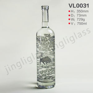 Normal Round Shanped Vodka Wine Bottle pictures & photos