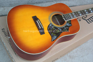 Hanhai Music/41′′ Hummingbird Folk Acoustic Guitar with White Binding pictures & photos