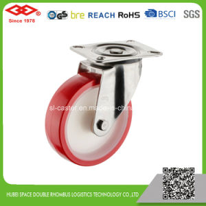125mm PU Bolt Hole Locking Caster Wheel (G104-26D125X30S) pictures & photos