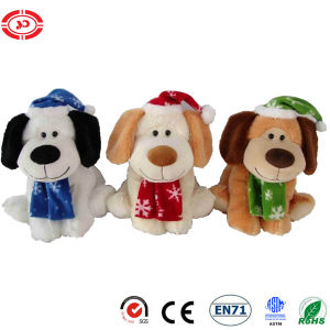 Plush Stuffed Sitting Dog Xmas Cute Soft Puppy Toy pictures & photos