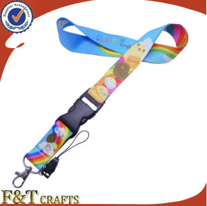 Fashion Beautiful Heat Transfer Printing Colorful Factory Custom Award Ribbon Medal Lanyard (FTLR1524A) pictures & photos