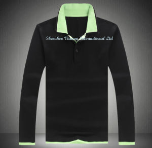 Fashion Polo T-Shirt with Long Sleeve pictures & photos
