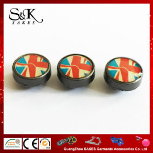 Silk Print Metal Alloy Rivet with Transparent Oil