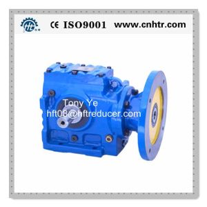 Hs Solid Input Shaft Helical Worm Gear Speed Reducer
