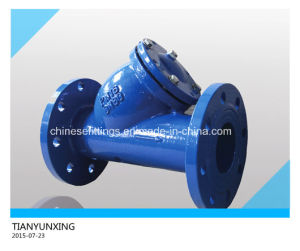 DIN Casting Steel/Iron Flanged Y Type Strainer pictures & photos