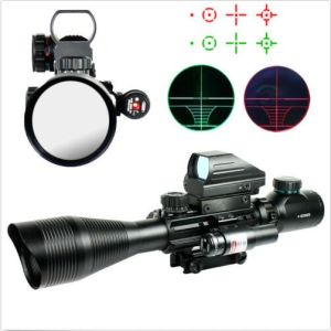 4-12X50 Eg Tactical Rifle Scope with Holographic 4 Reticle Sight & Red Laser