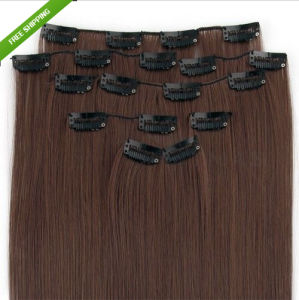 Malaysian Remy Clip in Human Hair Extensions pictures & photos
