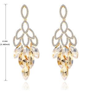 New Design Full Of Diamond Long Pendant Earrings