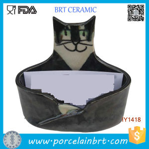Wholesale Cute Handsome Cat Ceramic ID Card Holder pictures & photos