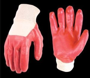 Cotton Gloves with PVC Coating P4301b pictures & photos
