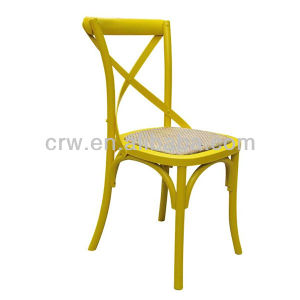 Rch-4001-29 Cross Back Dining Chair with Rattan Seat /Home Furniture pictures & photos