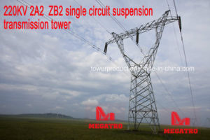 Megatro 220kv 2A2 Zb2 Single Circuit Suspension Transmission Tower pictures & photos