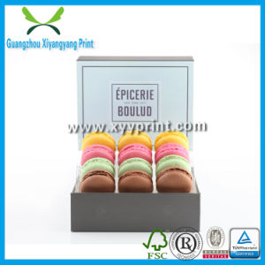 Customized Size Cardboard Paper Macarons Cake Box pictures & photos