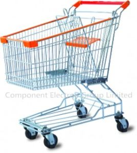 Nickel Plated Supermarket Shopping Trolley pictures & photos