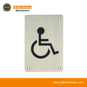 Stainless Steel Single Side Toilet Wall Sign/ Door Hardware (S02) pictures & photos