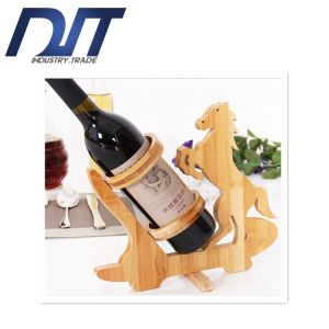 Factory Direct Popular Single Bottle Bamboo for Red Wine Rack