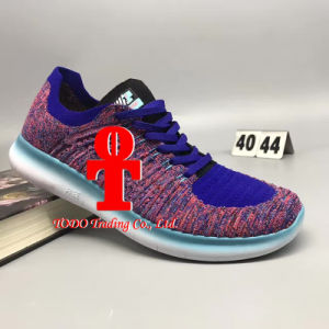 Women and Men′s Free Flyknit 5.0 Barefoot Fly Line Elastic Damping Wear-Resisting Jogging Shoes Running Sneakers pictures & photos