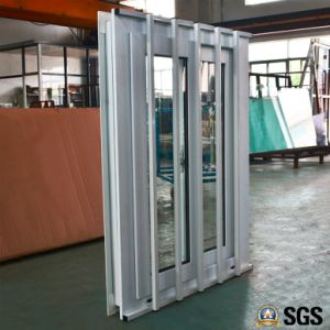 UPVC Profile Sliding Window with Stainless Steel Burglar Net, UPVC Window, PVC Window, Window K02087