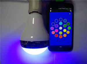 Speaker Wireless Bluetooth 4.0 E27 LED Light Bulb with White RGB Light
