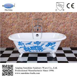 Black Color Double Ended Cast Iron Bathtub Sw-1003A