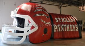 Inflatable Sports Tunnel, Inflatable Helmet, Custom Inflatable Mascot Tunnel (B7016) pictures & photos
