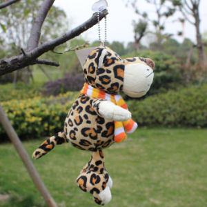 Free Shipping Nici Plush and Stuffed Toy Leopard with Sucker, Can Be Sucked on Glass, 20cm, 1PC