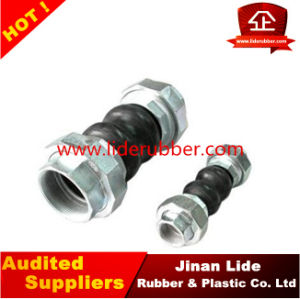 Screwed Connection Flexible Double Sphere Rubber Expansion Joint with Union