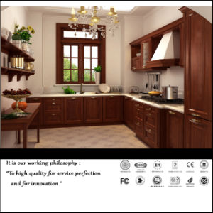 American Solid Wood Kitchen Cabinet (FY897) pictures & photos